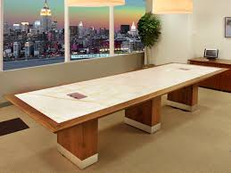Rectangular Conference Table Contemporary Rectangle Conference Table With Stone Inlay By Arnold