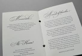 booklet wedding programs 5 ideas for wedding program booklets
