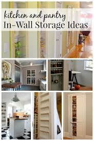 pantry ideas for kitchens remodelaholic 25 brilliant in wall storage ideas for every room