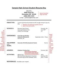Resume With No Job Experience Sample by Example Of High Student Resume Simple Resume For High