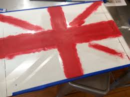 Flag With Cross And Stripes British Flag Serving Tray Diy Tutorial Before And After