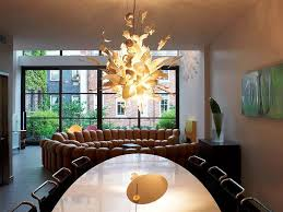 contemporary chandelier glass and metal base all