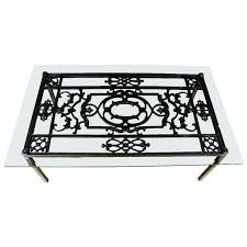 wrought iron coffee table with glass top glass wrought iron coffee table glass wrought iron end tables iron