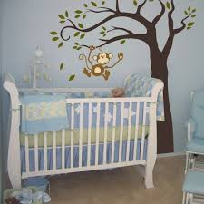 Monkey Decorations For Nursery 38 Baby Room Wall Designs Real Room Aqua Woodsy Boys Nursery
