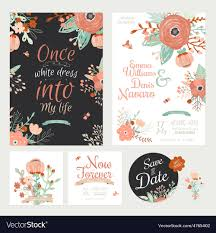 save the date invitation vintage floral save the date invitation vector image