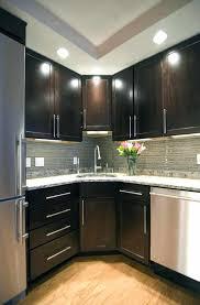 glass tile backsplash with dark cabinets tile backsplash with dark cabinets kitchen astonishing light ideas