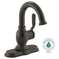 Oil Rubbed Bronze Bathroom Faucets by Worth Single Hole Single Handle Bathroom Faucet In Oil Rubbed