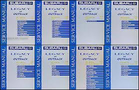 2001 subaru legacy and outback repair shop manual set original