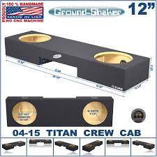nissan frontier subwoofer box nissan titan sub box crew cab 04 15 dual 12