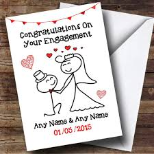 congratulations on your engagement card doodle kneeling groom personalised engagement card the card zoo