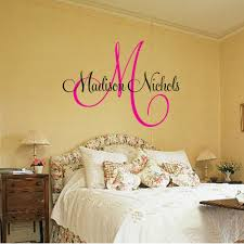 custom vinyl lettering for walls amazing with wall decal design madison personalized decals for walls nichols sample pink alphabet big lamp white shadow orange custom stickers