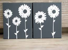 office wall art decor grey white sunflowers canvas wall art for office wall decor