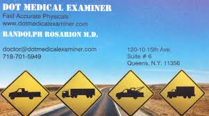 Self Certification Notification Letter Randolph Rosarion M D Truck Driver Physicals Nyc Tlc