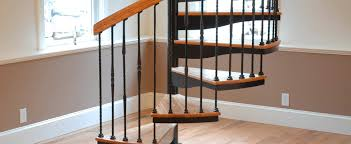 architecture space saver spiral staircase with wrought iron and