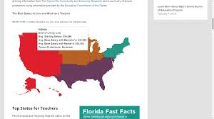 best states to work in article review the best states to teach in america the curriculum