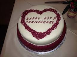ruby wedding cakes wedding cake 40th wedding anniversary cake decorations