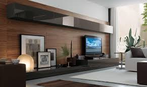 Tv Unit Interior Design Awesome Dark Brown Wood Glass Cool Design Led Tv Unit Best Home