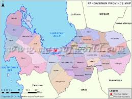 map of province pangasinan map map of pangasinan province philippines