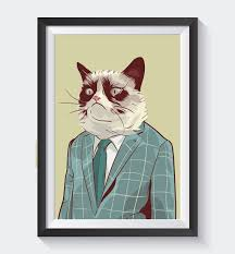 Cat Suit Meme - cat internet meme high quality poster business grumpy cat pop