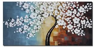 amazon com wieco art blooming life extra large modern stretched
