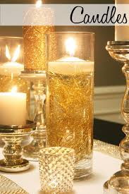 Vase Table Centerpiece Ideas Floating Candles In A Hurricane Candle Holder For Wedding Table