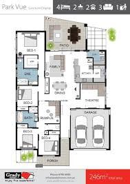 family home floor plans park vue spacious 4 bedroom family home design grady homes