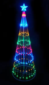 Lighted Christmas Outdoor Decorations by Northlight 6 Ft Multi Color Led Light Show Cone Christmas Tree