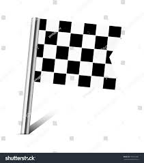 Checkered Racing Flags Checkered Racing Flag Pin On White Stock Vector 199651766