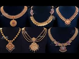 gold antique necklace sets images Antique jewellery designs in gold jpg