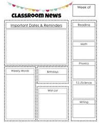 best 25 preschool newsletter ideas on pinterest newsletter