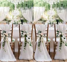 2018 2015 ivory chair sash for weddings with big 3dchiffon