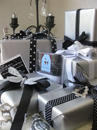 black and white gift wrap wedding gift wrapped with black white