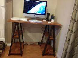 Ladder Desk With Shelves by Furniture Exciting Sawhorse Desk With Ladder Shelves Legs And