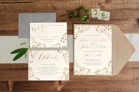 wedding invitations australia copper autumn leaf wedding invitation paper alphabet