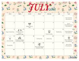 july 2017 printable calendar and coloring pages disney family