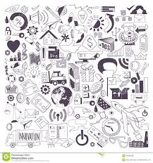 doodle presentations vector illustration of business doodles stock vector