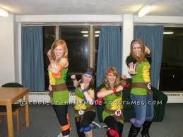 fun and easy teenage mutant ninja turtles girls group halloween