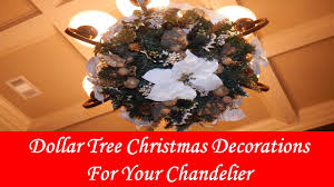 Ornament Chandelier Diy by Diy Dollar Tree Christmas Chandelier Diy Youtube