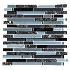 Black Granite Glass Tile Mixed Backsplash by 21 Best Kitchen Tile Ideas Images On Pinterest Kitchen Makeovers