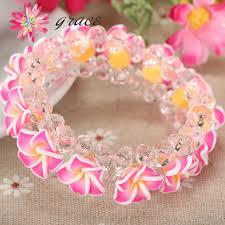 handmade flower bracelet images 1pc lot handmade beautiful polymer clay fimo frangipani plumeria jpg