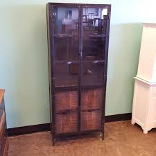 Wooden Cabinet With Glass Doors Metal And Wood Cabinet With Glass Doors Nadeau
