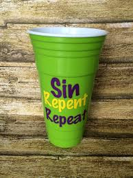 personalized mardi gras reusable walled party cup mardi gras tumbler