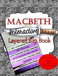 macbeth interactive layered flip book 8 pages u2013 each u201cflap u201d is