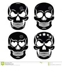 halloween human skull design death day of the dead stock vector