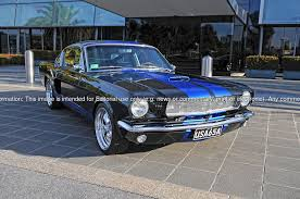 Blue Mustang Black Stripes 1965 Ford Mustang Fastback Spicehecker 501 Base Black With Rally