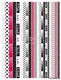washi tape designs red white and black printable planner washi washi tape for planners