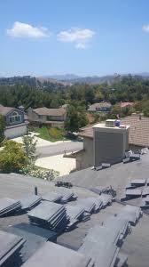 Concrete Tile Roof Repair Charcoal Blend Standard Slate Concrete Tile In Thousand Oaks