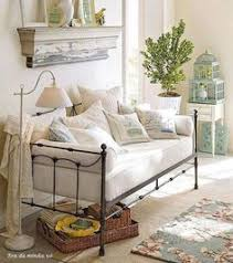 Shabby Chic Guest Bedroom - im going to have something like this bed used as a couch plus my
