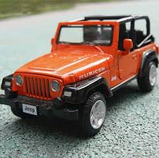jeep model kit orange jeep wrangler vehicles 1 32 diecast plastic car model kit