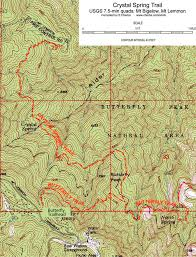 mt lemmon hiking trails map trail trail adventures in tucson